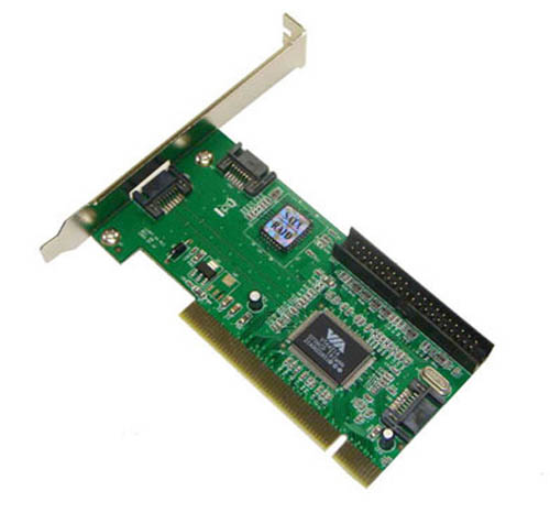 Pci serial ata (sata2) 4 channel controller card with raid function, sil3124 chipset