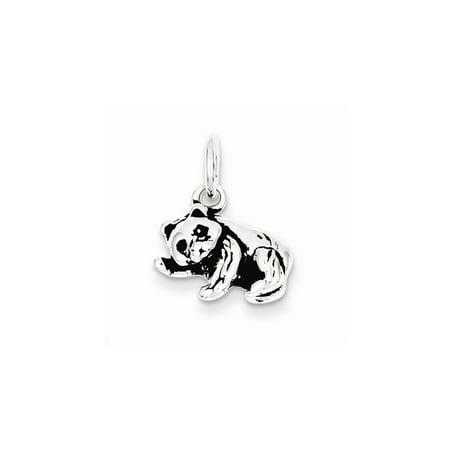 Sterling Silver Antiqued Panda Bear Charm