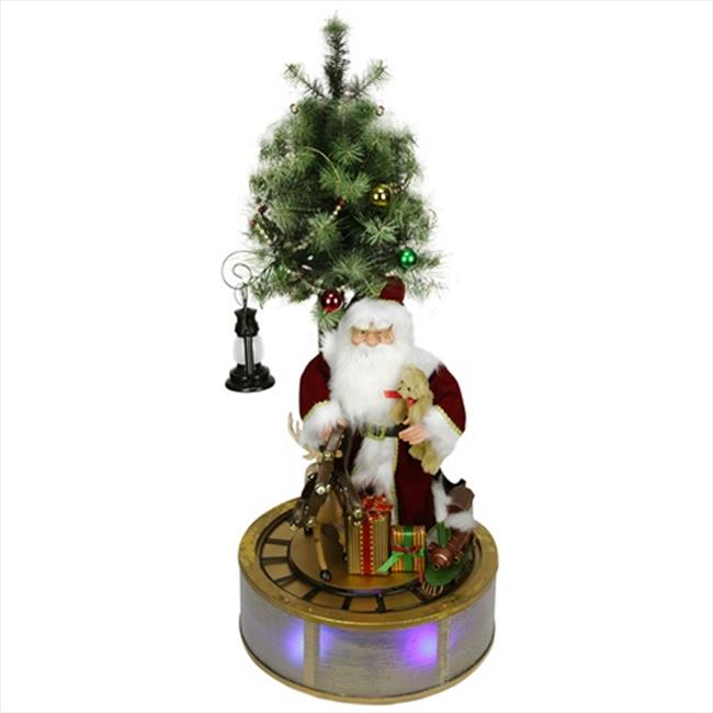 NorthLight 4 ft. Animated And Musical Lighted LED Santa C...