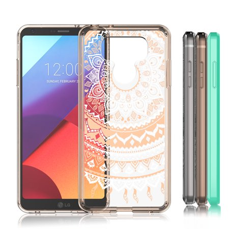 Lg G6 Case Lg G6 Case For Girls Lovely Retro Pattern Transparent Cute Adorable Clear Hard Tpu Skin Scratch Proof Bumper Phone Cover Cases For Lg G6