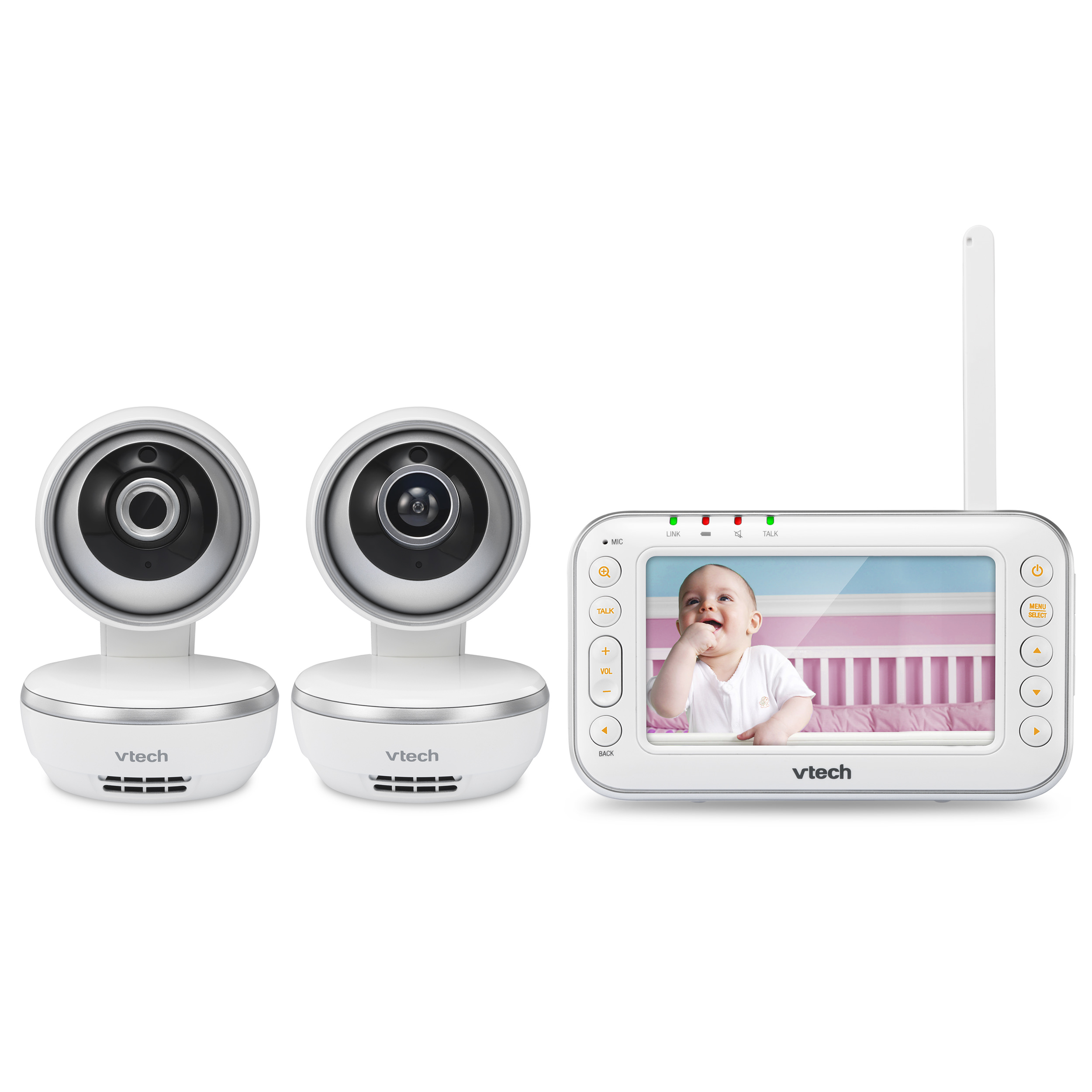 VTech VM4261-2 4.3 Digital Video Baby Monitor with 2 Pan & Tilt Cameras and Wide-Angle Lens and Standard Lens,... by VTech