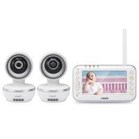 """VTech VM4261-2 4.3"""" Digital Video Baby Monitor with 2 Pan & Tilt Cameras"""
