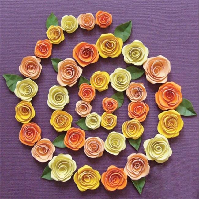 Открытка из спиральных роз, поздравлением благовещения картинки