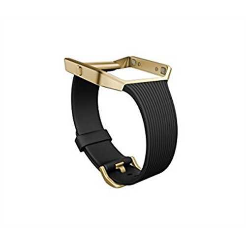 Fitbit Blaze Accessory Band - Slim Black Gold - Small