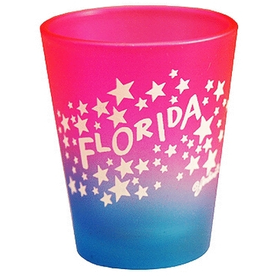 "Ddi Florida Shot Glass 2.25h X 2"" W Multi Clr Stars (pack Of 72)"