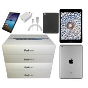 (3RD LATEST VERSION) Refurbished Apple iPad Mini 2 Retina 16GB, Space Gray, Wi-Fi +4G Unlocked, Plus Bundle: Case, Tempered Glass, & Generic Charger - Free 2-Day Shipping