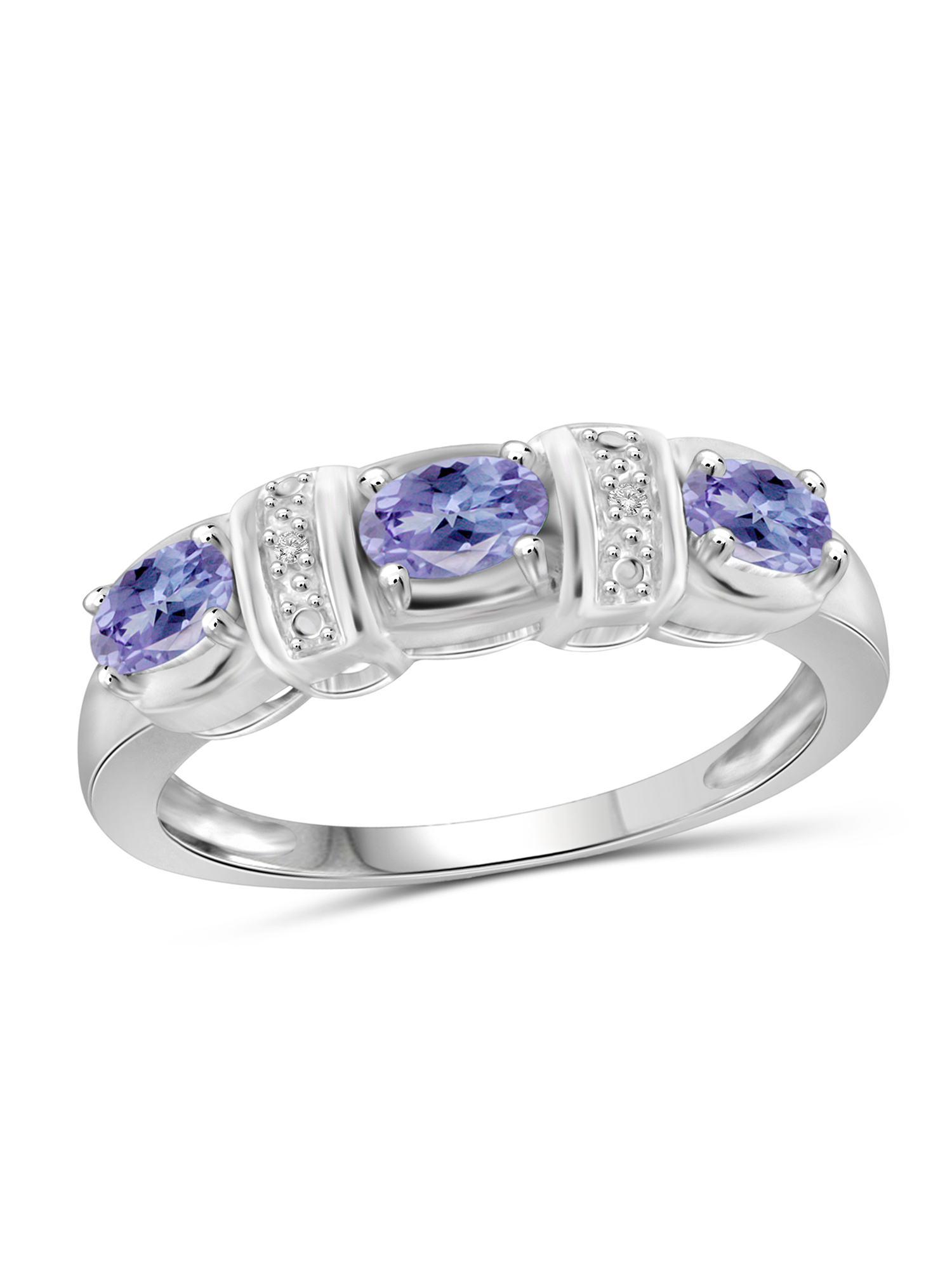 JewelersClub 0.72 Carat Tanzanite Gemstone and Accent White Diamond Ring by JewelersClub