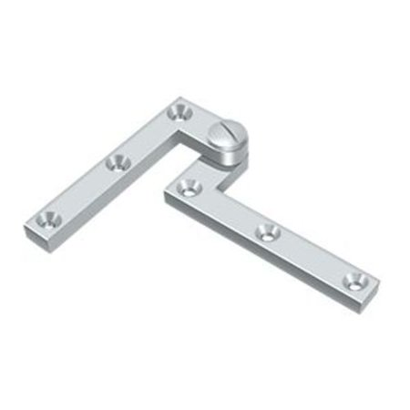 4.38 in. x 0.63 in. x 0.38 in. Solid Brass Pivot Hinge - Pair (Chrome) ()