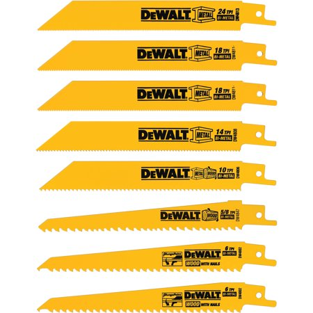 8 Piece Recip Blade Set