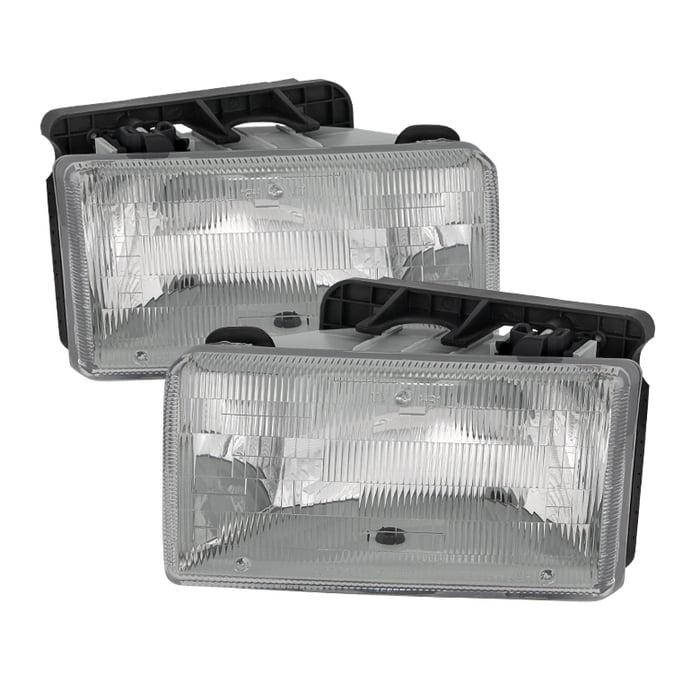 TD Crystal Headlights (Chrome) - 91- 96 Dodge Dakota