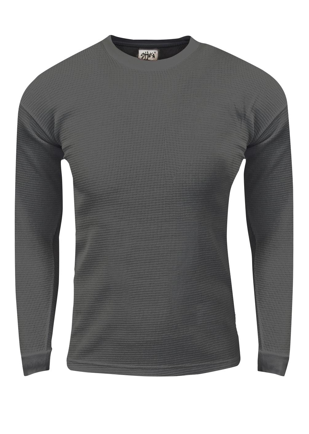 Shaka Wear Kids Waffle Thermal Long Sleeve Crewneck T Shirt XXS-XL