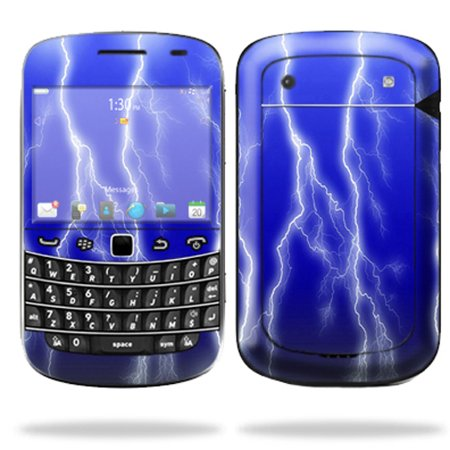 Mightyskins Protective Skin Decal Cover for Blackberry Bold 9900 or 9930 Cell Phone wrap sticker skins Lightning Storm