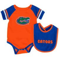Florida Gators Colosseum Newborn & Infant Roll-Out Bodysuit & Bib Set - Orange/Royal
