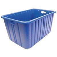 "NEW ENGLAND PLASTICS H-2819-15R BLUE Blue Nesting Container, 28-1/2""L x 19""W x"