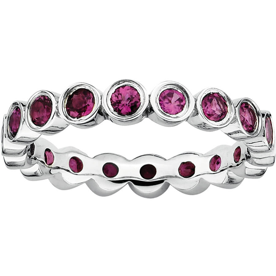Stackable Expressions Rhodolite Garnet Sterling Silver Ring by Generic