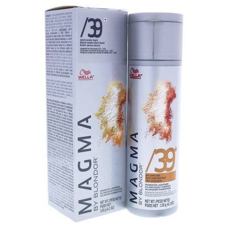 Magma by Blondor Pigmented Lightener - 39 Plus Gold Cendre Dark by Wella for Unisex - 4.2 oz Hair