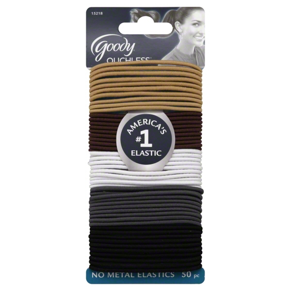 Goody Ouchless No-Metal Elastics, 50 count