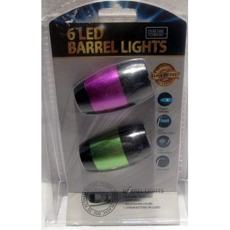Push Button Mini Barrel Flashlight with Attached Nylon Strap (Random Colors), Pocket size for travelling, camping, or just going out By Think Tank Technology Ship from US