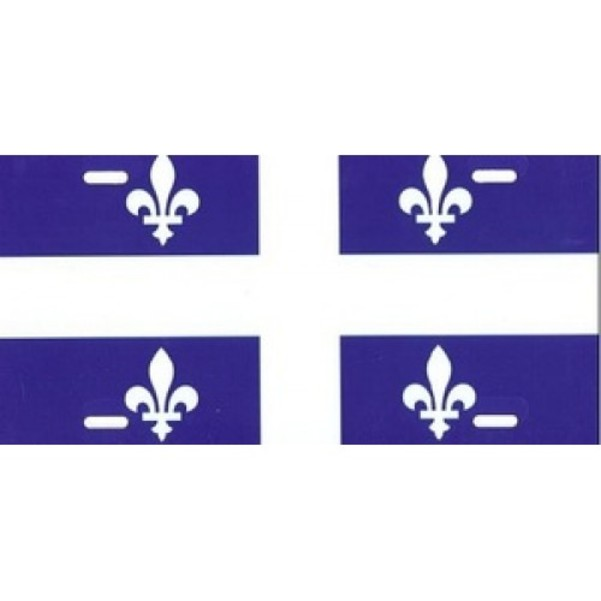 Quebec Flag License Plate  Free Personalization on this Plate