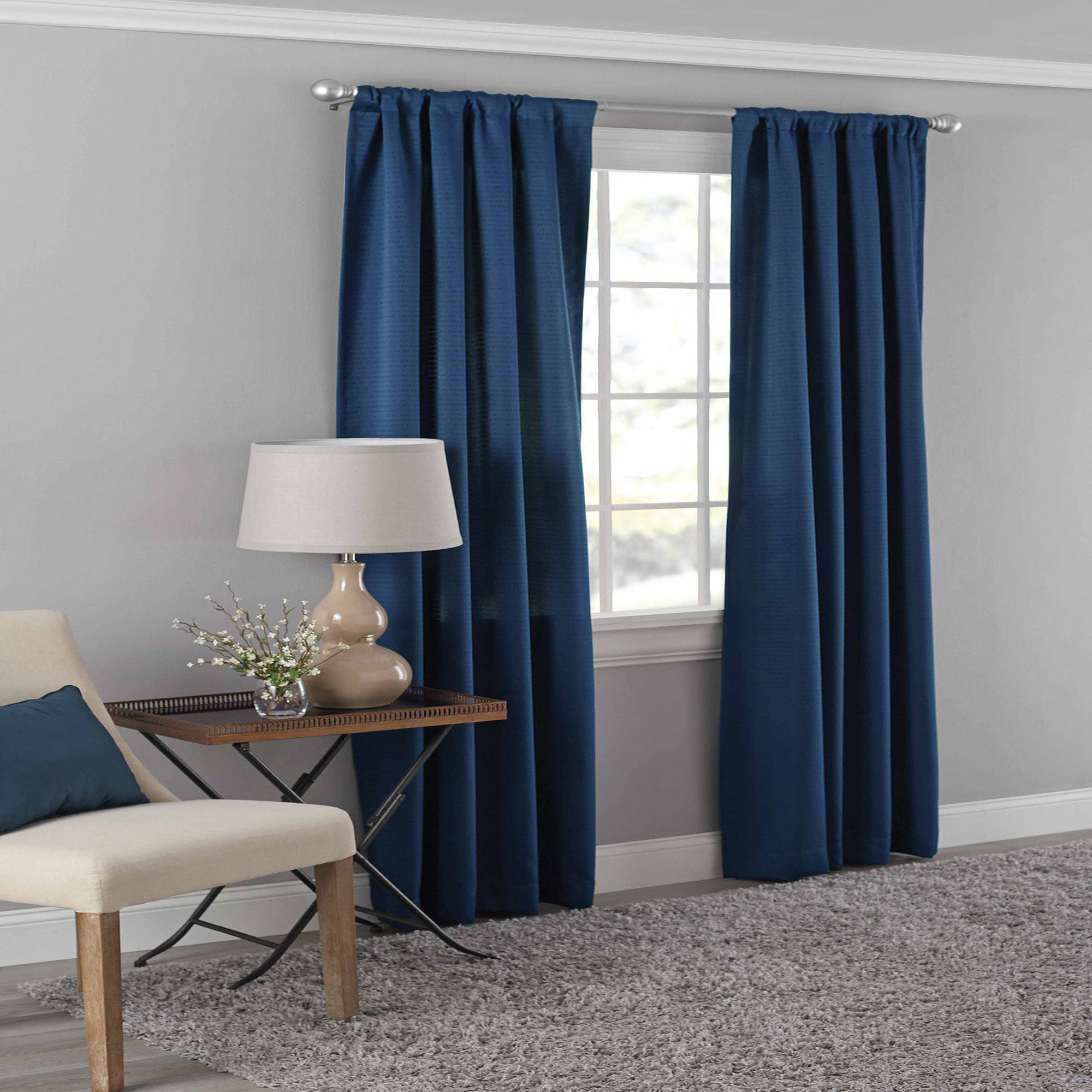 Mainstays Dotted Room Darkening Curtain Panel in Multiple Sizes and Colors by Ellery Homestyles