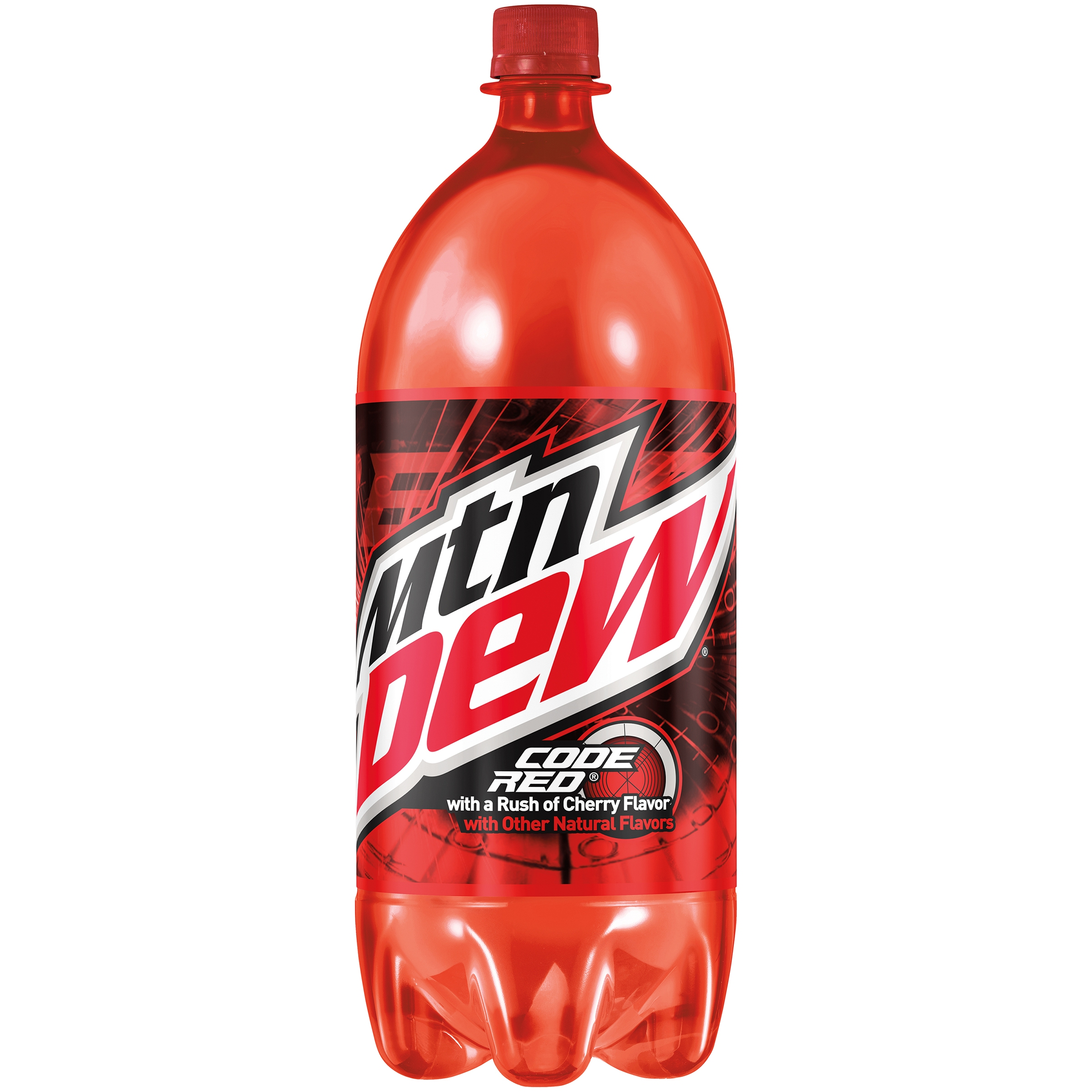 Mountain Dew Code Red Cherry Flavor Soda 2l Plastic Bottle