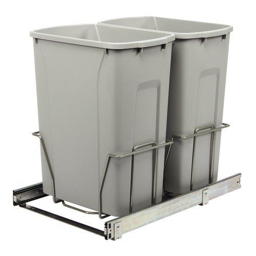 Knape&Vogt Double Pull-Out 8.75 Gallon Trash Can