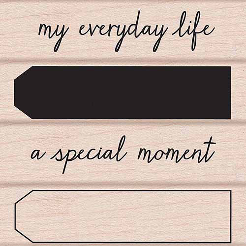 """Hero Arts Mounted Rubber Stamp Set 3""""X3""""-My Everyday Life"""