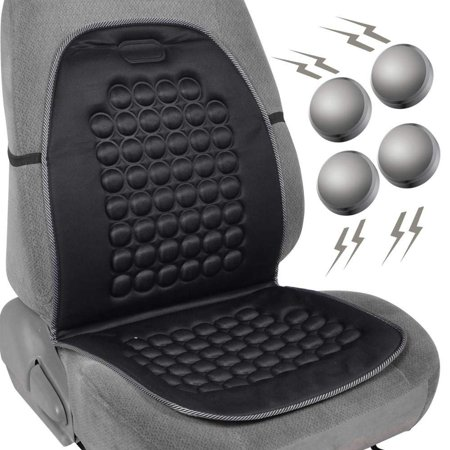 Magnetic Bubble Seat Cushion - Massage Therapy - 1pc Padded Cover (Black) - Massage Magnetic Cushion
