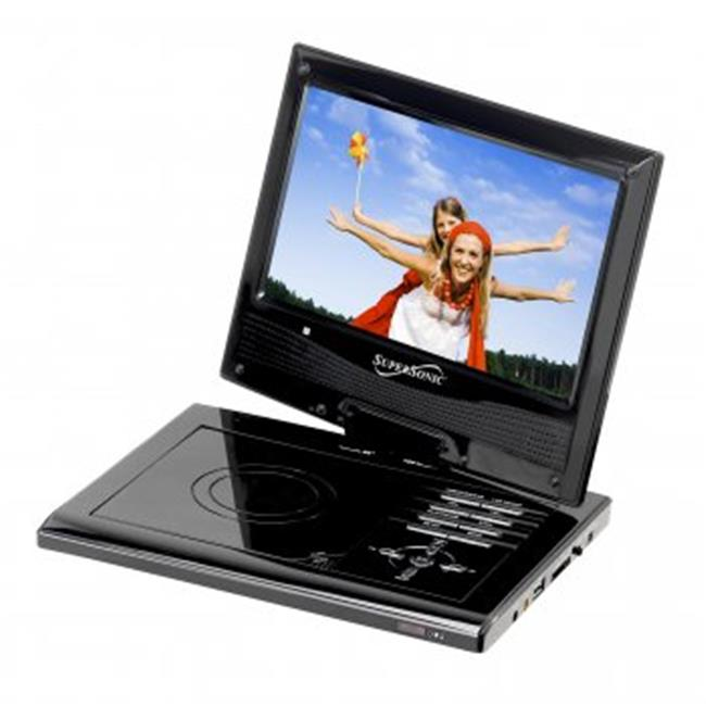 9 in. Portable DVD Player with Swivel Display