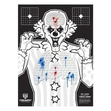 Threat Down Evil Clown Silhouette   6-Pack   Gun Targets for Shooting   22  Rimfire Targets   Fun Shooting Target   22 Target   Range Targets