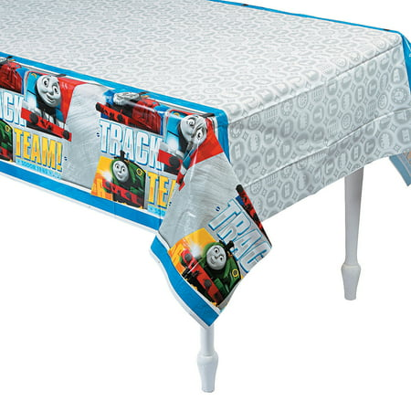 Fun Express - Thomas The Train Tablecover for Birthday - Party Supplies - Licensed Tableware - Misc Licensed Tableware - Birthday - 1 Piece](Train Table Cover)