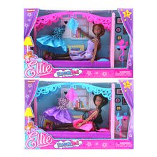 New 505873  Girl W / Bed- Extra Dress & Furniture In Window Box (6-Pack) Dolls Cheap Wholesale Discount Bulk Toys Dolls Girls ()