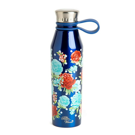 The Pioneer Woman® 18oz Double Wall Vacuum Insulated Stainless Steel Water Bottle - Navy
