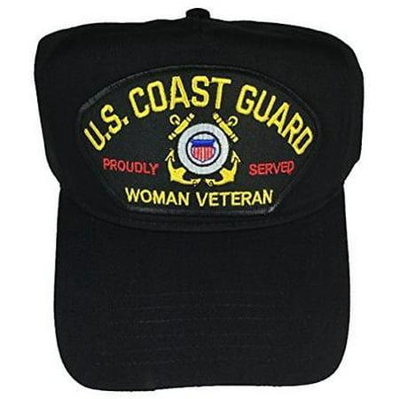 Coast Guard Baseball Hat - USCG COAST GUARD WOMAN VETERAN PROUDLY SERVED HAT CAP FEMALE COASTIE PRIDE