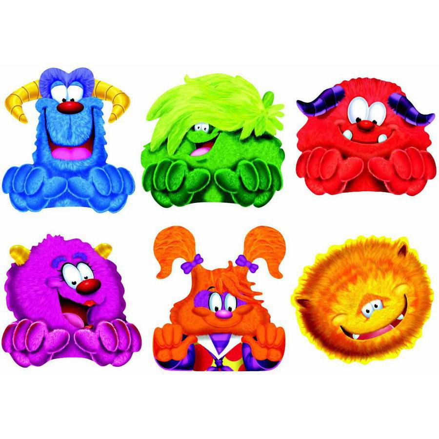 "Trend Enterprises Furry Friends Classic Accents Variety Pack, 5.5"", 36pk"