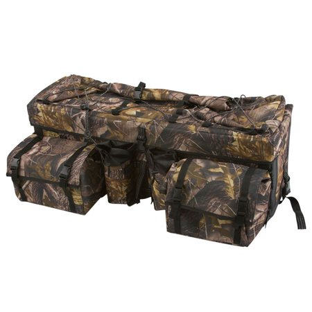 Atv Rack Bag - ATV Cargo Rear Rack Gear Bag with Topside Bungee Tie-Down Storage