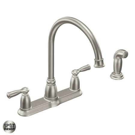 Moen CA87000 Spot Resist Stainless Banbury High-A 01 Kitchen Faucet