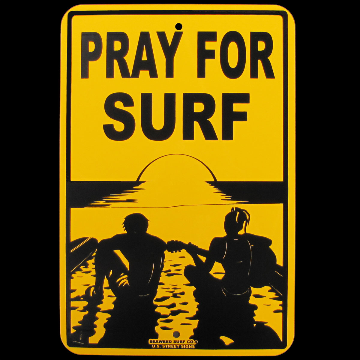 Tin PRAY FOR SURF Hawaii Big Wave Surfer Sign Beach Bar/Shop Surfing ...