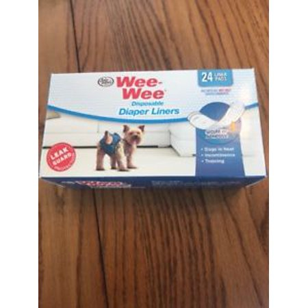 Four Paws Wee-Wee Dog Diaper Garment Pads 24 Pack Ships N 24h Dog Diaper Garment