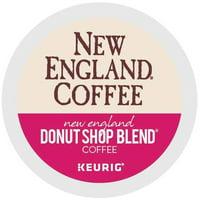 New England Coffee® Donut Shop Blend K-Cup - Arabica, Donut Shop Blend, Crisp Aroma - Light - 24 / Box