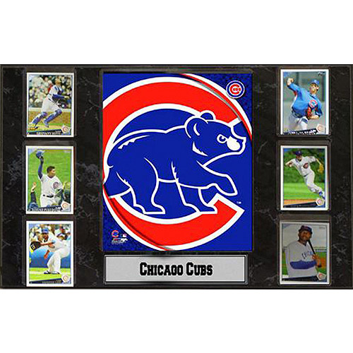 MLB Chicago Cubs 6-Card Plaque, 13x20