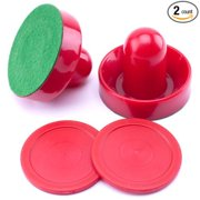 Air Hockey Pucks and Two Sombrero Style Paddles for Table Top Air Hockey Tables (Set of 2), 2.5-Inch, Set of two... by