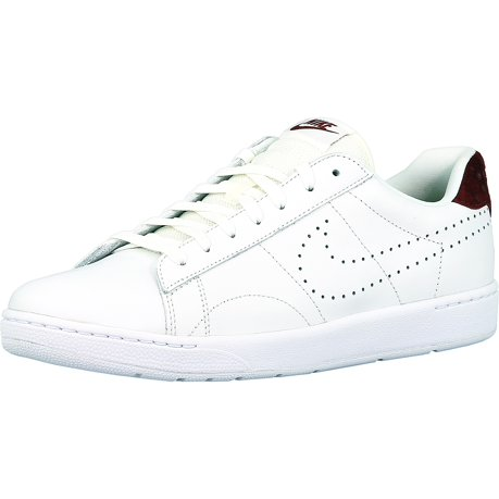 Nike Women's Tennis Classic Ultra Summit White / Summit White-Team Red-White  Ankle-High Leather Tennis Shoe - 10.5M