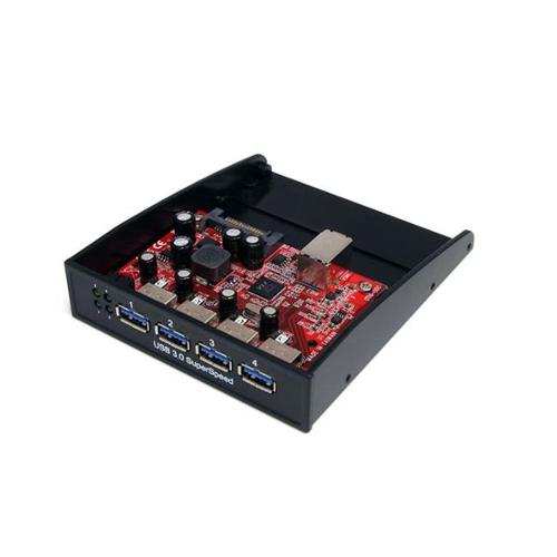 StarTech 35BAYUSB3S4 USB 3. 0 Front Panel 4 Port Hub - 3. 5 inch or 5. 25 inch Bay