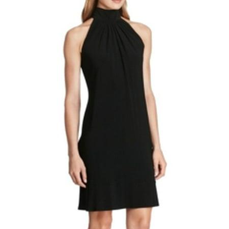 Matte Jersey Sheath Dress (American Living NEW Black Womens Size 10 Mock-Neck Jersey Sheath Dress)