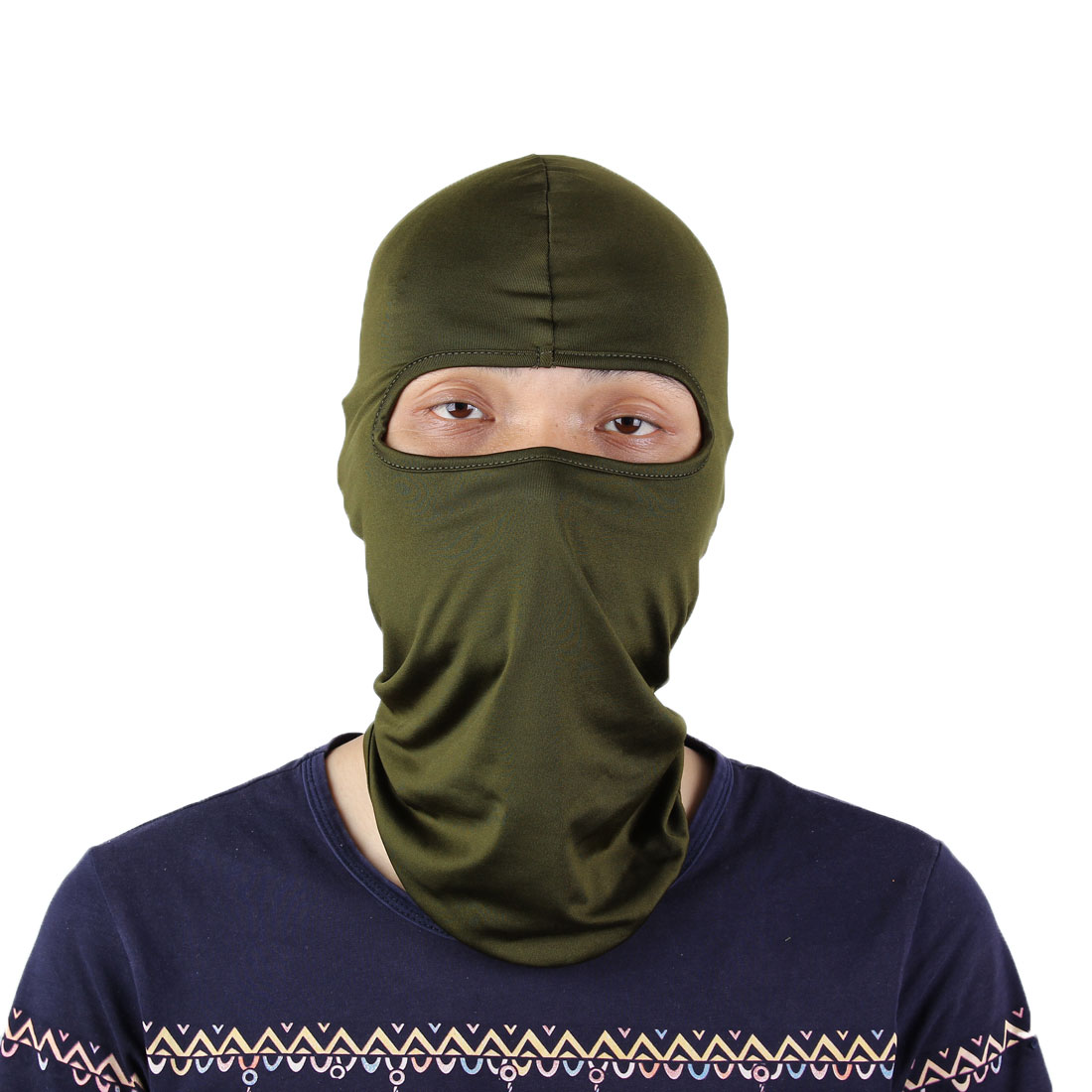 Outdoor Motorcycle Cycling Full Face Mask Neck Protecting Balaclava Hood Army Green