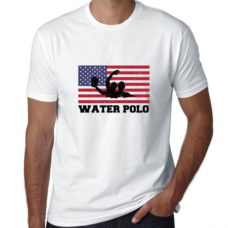 USA Olympic - Water Polo - Flag - Silhouette Men's T-Shirt