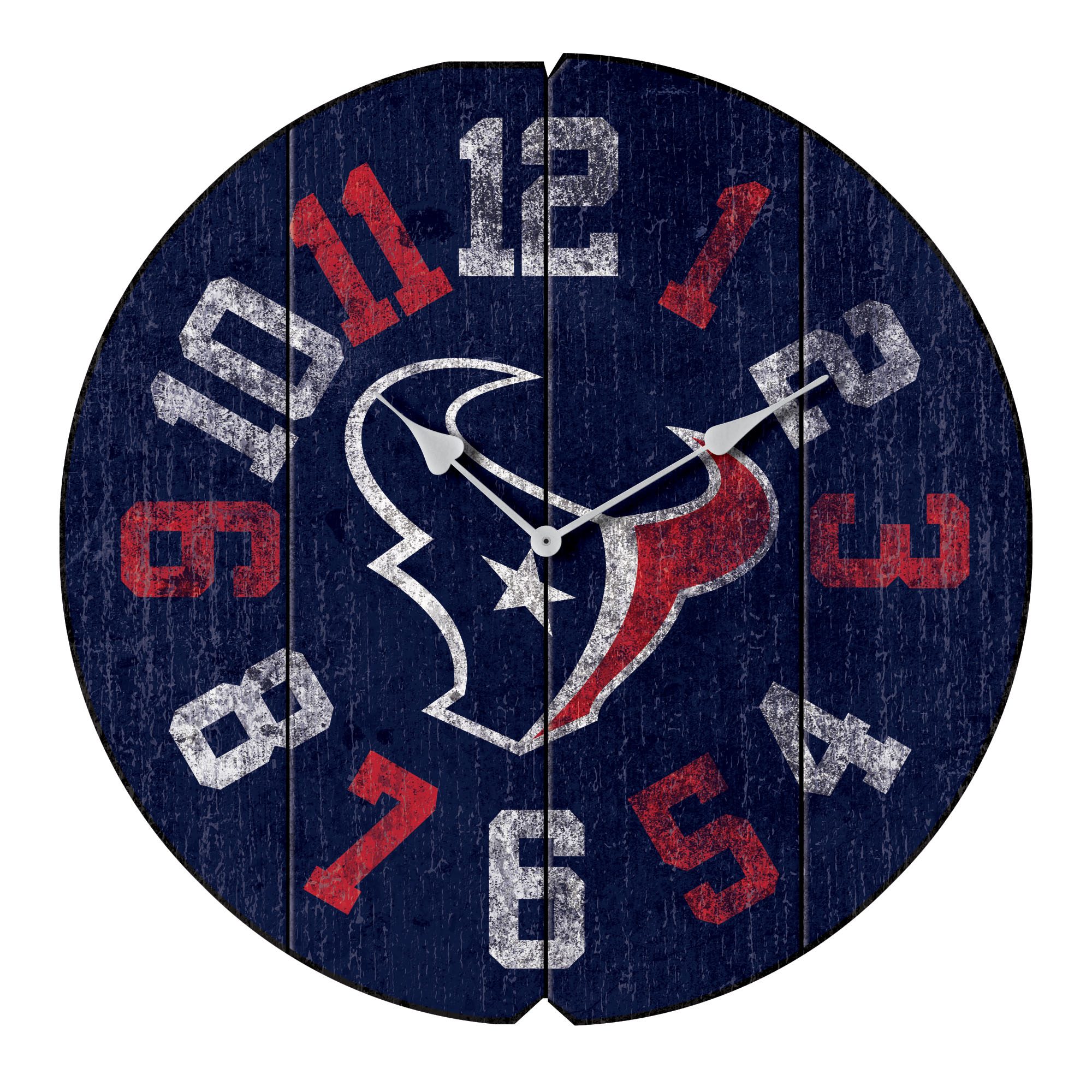"Houston Texans 16"" Vintage Round Wall Clock - Blue - No Size"