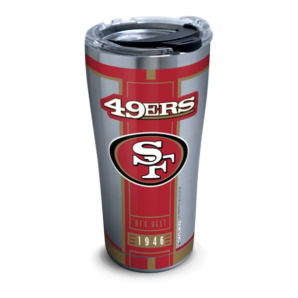 NFL San Francisco 49ers Blitz 20 oz Stainless Steel Tumbler with lid