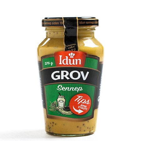 Mild Yellow Mustard - Norwegian Mustard by Idun - Mild (250 gram)